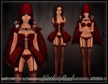 [Wishbox] Little Red Riding Hood Costume - Fantasy Lingerie Set Fairy Tale Halloween