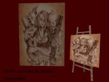 Sepia steampunk (canvas & Easel)