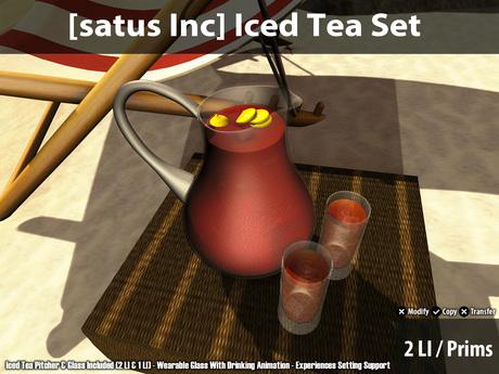 [satus Inc] Iced Tea Set
