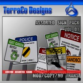 TerraCo Assorted Sign Pack 01