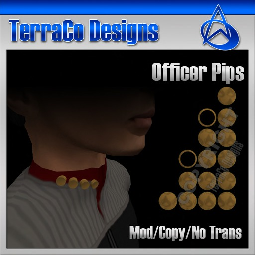 TerraCo Rank Pips (Standard, Officer)