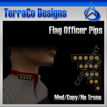TerraCo Rank Pips (Standard, Admiral)