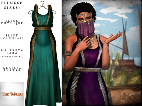 The Muses ~ Sweet Water . Gold/Teal
