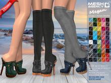 ::MA:: MEGAN CLOGS with Knee Socks Belleza, Slink, Maitreya, Resize - EXCLUSIVE 50 COLORS