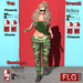 :: FLG Hanna Overall Outfit + HUD 10 Models ::