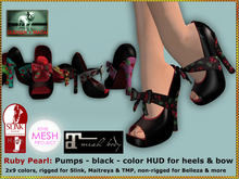 Bliensen + MaiTai - Ruby Pearl - Rockabilly Pumps for slink, Maitreya, Belleza and TMP with color HUD