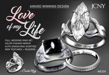 JCNY - 'LOVE OF MY LIFE, iEngrave Wedding Rings
