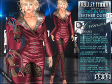 Bella Moda: Cuoio Insieme Crimson Leather Collection Outfit & Shoes - Fitted Mesh for Maitreya/Physique/Classic - FULL