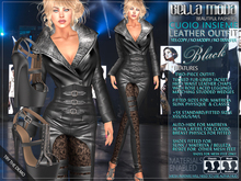 Bella Moda: Cuoio Insieme Black Leather Collection Outfit & Shoes - Fitted Mesh for Maitreya/Physique/Classic - FULL
