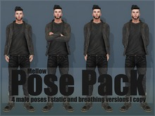 Mellow / Male Poses Pack (static and breathing)