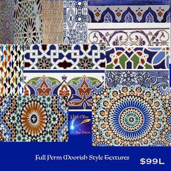 13 Moorish Style Full Perm Textures(box)