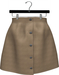 NYU - Buttoned Front Skirt, Beige