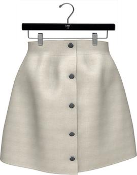 NYU - Buttoned Front Skirt, Cream