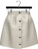 NYU - Buttoned Front Skirt, Cream