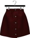 NYU - Buttoned Front Skirt, Red