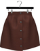 NYU - Buttoned Front Skirt, Tan