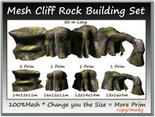 Mesh Cliff Rock Building Set 4 Parts=50m Long copy-mody
