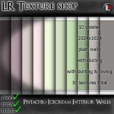 LR Pistachio Icecream walls,30 fullperm textures,seamless interior walls