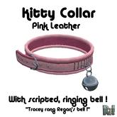 *~Ri!~* Pink Leather Kitty Collar