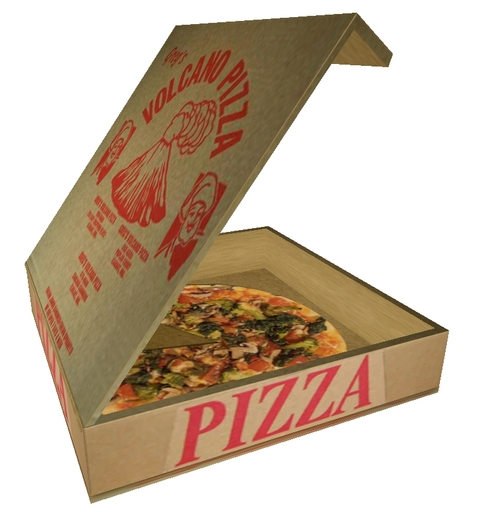 Pizza Box And Pizza