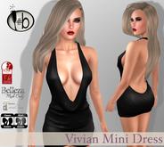 #b Vivian Black Mini Dress