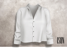 ISON - cropped button up (white)