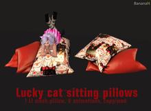 Lucky cat sitting pillows