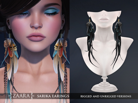Zaara : Sarika feather earrings *ebony*
