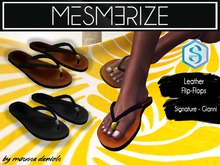 Leather Flip-Flops by Mesmerize for [Signature] Gianni
