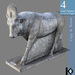 3D / Apis Statue / 4 land impact