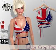 #b Libby American Flag  Crop Top