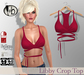 #b Libby Red Crop Top