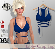 #b Libby Blue Crop Top