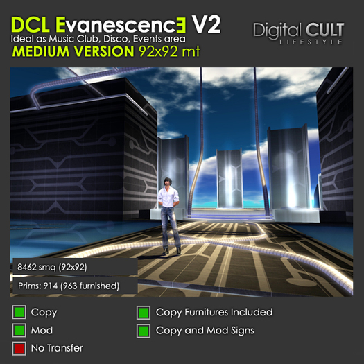 DCL Evanescence club V2 MEDIUM Size Version