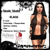BLASPHEMIC - SHAWL SHARIE - BLACK