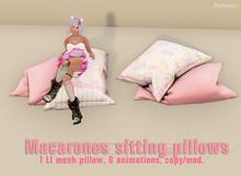 Macarones sitting pillows