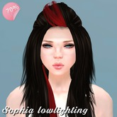 Hair Sophia Dark Brown lowlighting