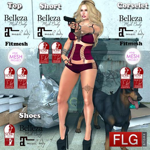 FLG Carol Bang Outfit - HUD 10 Models