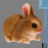 3D / FREE Tiny Rabbit Figurine / 2 land impact