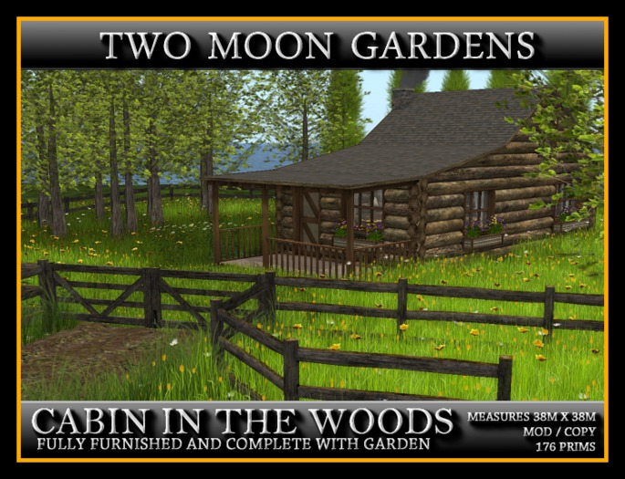 CABIN IN THE WOODS - FURNISHED LOG CABIN WITH LANDSCAPED GARDEN*