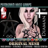 :Diamante:  Pentagram Hand Wraps (SLink) Original Mesh
