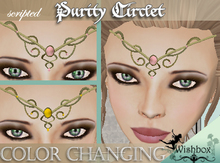 [WIshbox] Purity Circlet - Gold with 140 gemstone colors - medieval fantasy jewelry