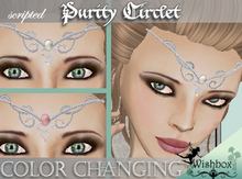 [Wishbox] Purity Circlet - Silver with 140 gemstone colors Medieval Fantasy