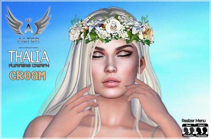 Thalia Flowers Crown Cream