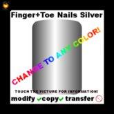 Colorable Finger&Toenails silver (copyable)