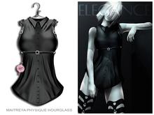Elegance Boutique -Shirt&Belt -Liz -Black -Legacy & Maitreya & Slink