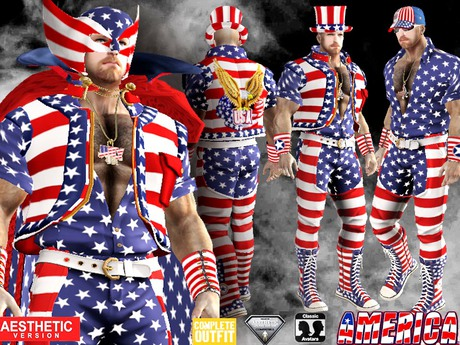 CA AESTHETIC AMERICA 4th JULY COMPLETE OUTFIT 3 IN 1