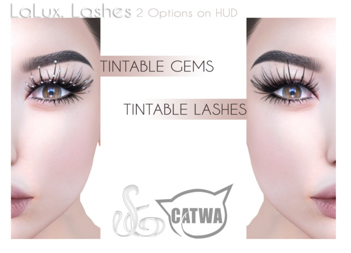 ::SG:: Lalux  Lashes for CATWA Heads.