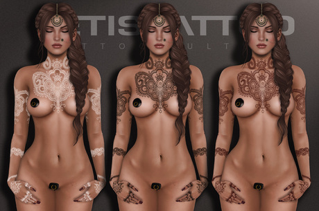 Letis Tattoo :: Diwali Colors :: Tattoos Bakes On Mesh & Legacy Maitreya and more Appliers