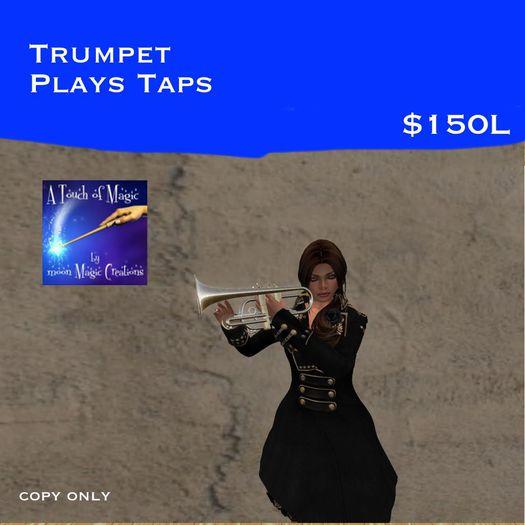 Trumpet plays taps (bag)